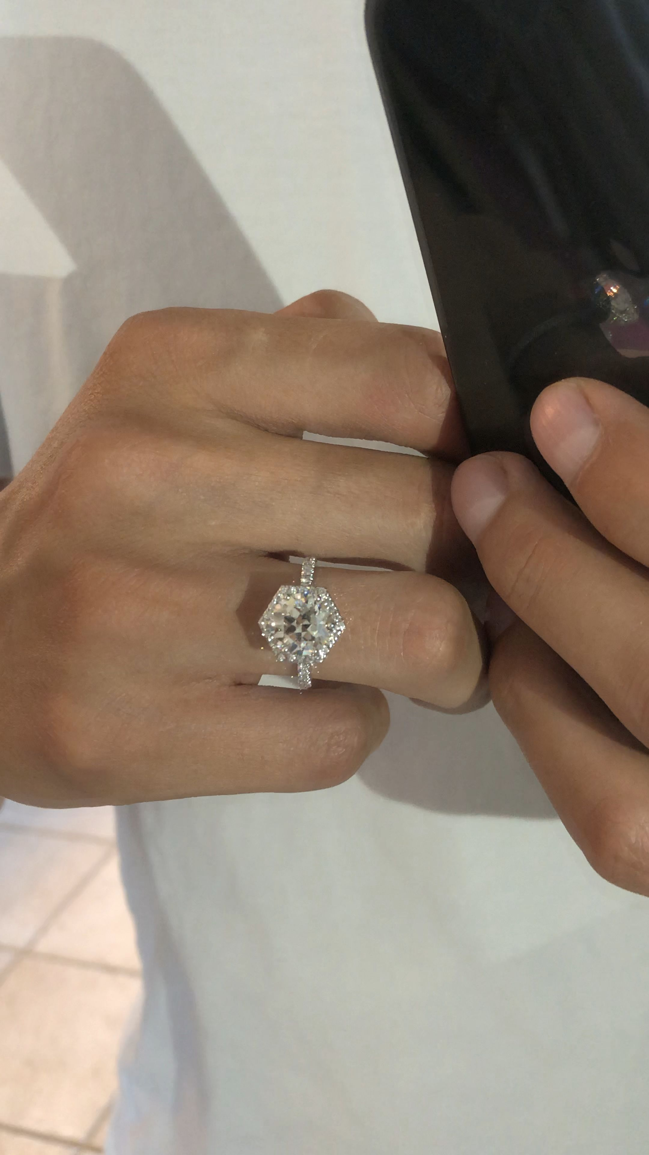Raven Fine Jewelers Oec Diamond Rings Halo Rings Vintage Meets Modern Anniversa Engagement Ring White Gold Vintage Engagement Rings Womens Engagement Rings