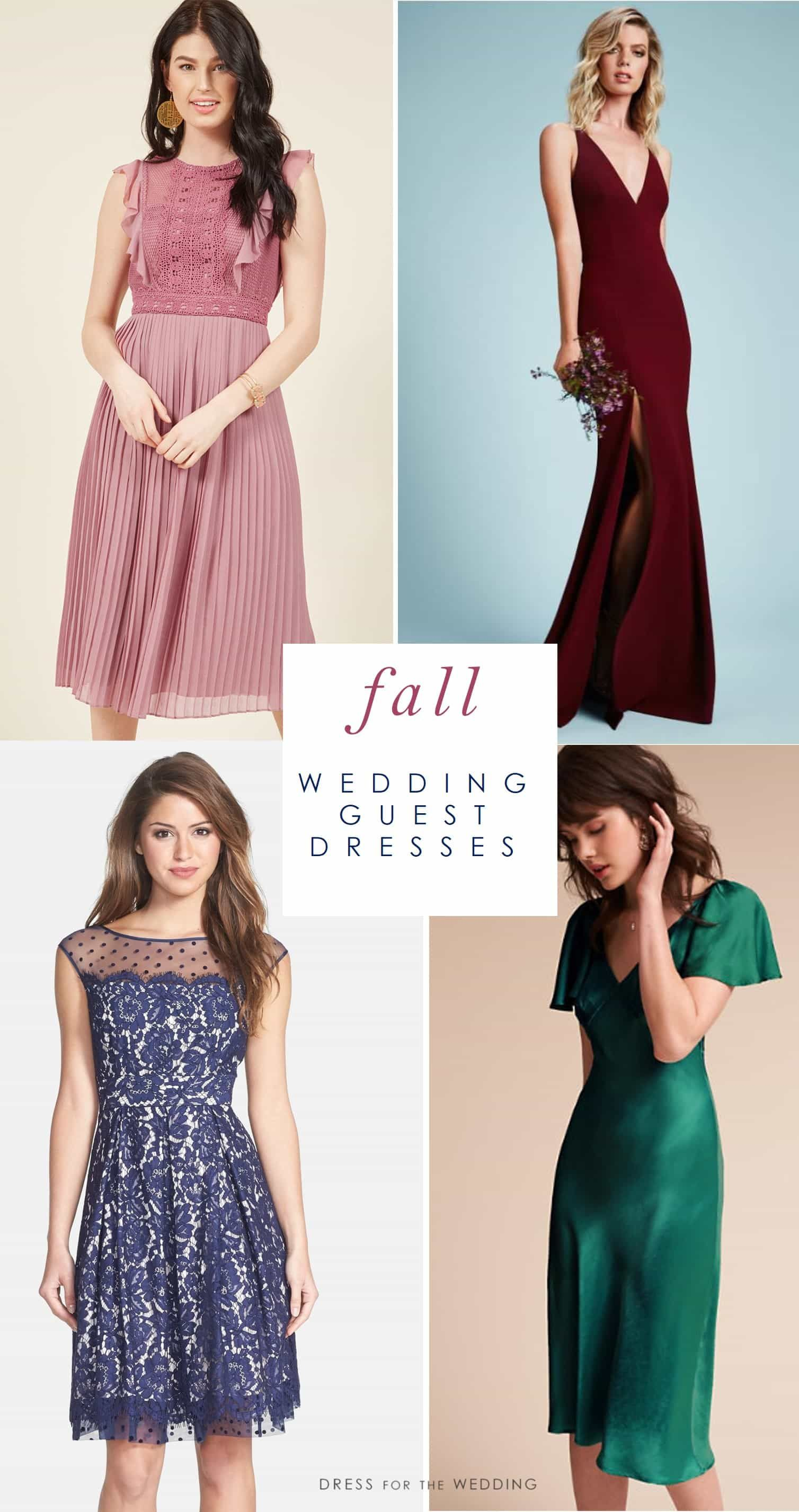 Fall Wedding Guest Dresses To Wear To A Fall Wedding Autumn Styles For Wedding Guests Wedding Attire Guest Wedding Guest Outfit Fall Fall Wedding Guest Dress