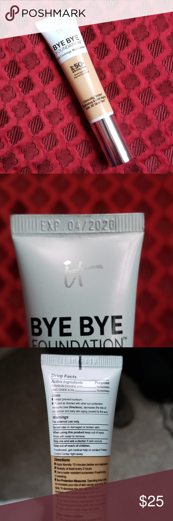 It Cosmetics Bye Bye Foundation Cosmetics, Clothes