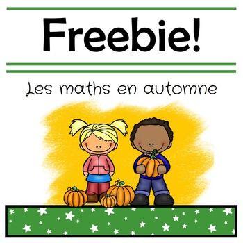 french fall math freebie maths math kindergarten math activities et go math. Black Bedroom Furniture Sets. Home Design Ideas