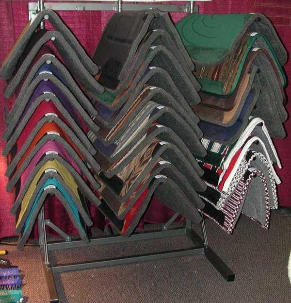 Saddle blanket and saddle pad rack for your horse tack