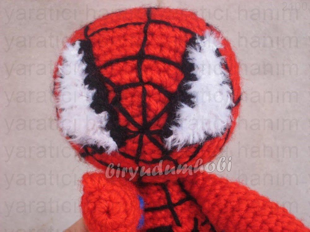Amigurumi Spiderman Free Crochet Pattern - Crochet.msa.plus | 750x1000