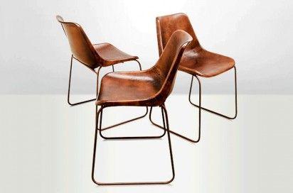 Chaise Cuir Chaise Vintage Cuir Chaise Salle A Manger Chaise