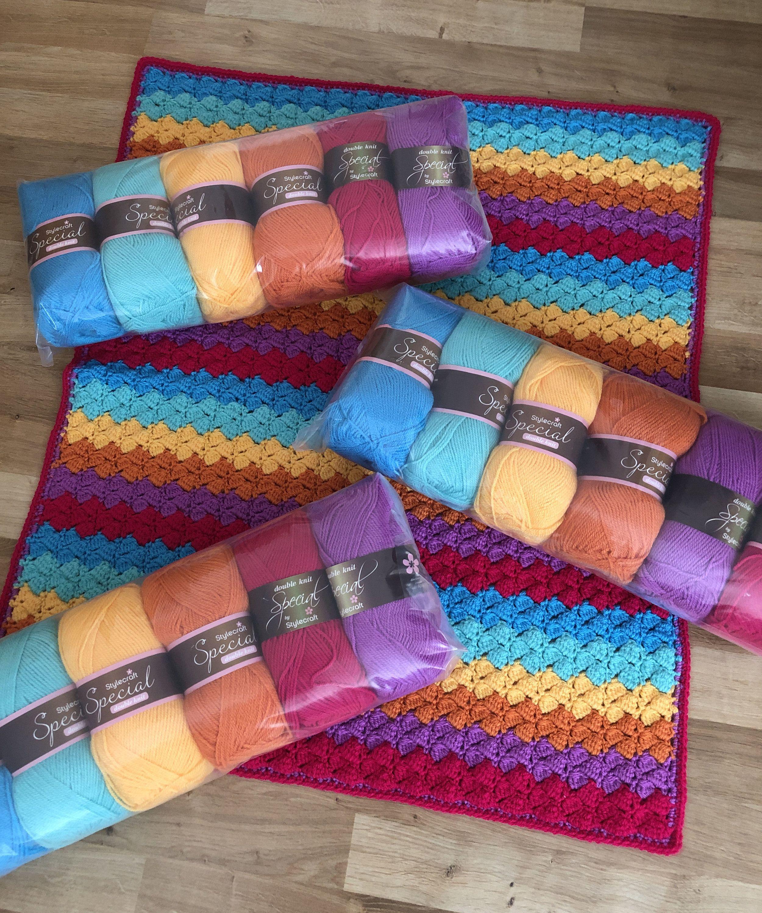 Bright Blanket Kit Bright Blanket Crochet Kit Knitting Kits