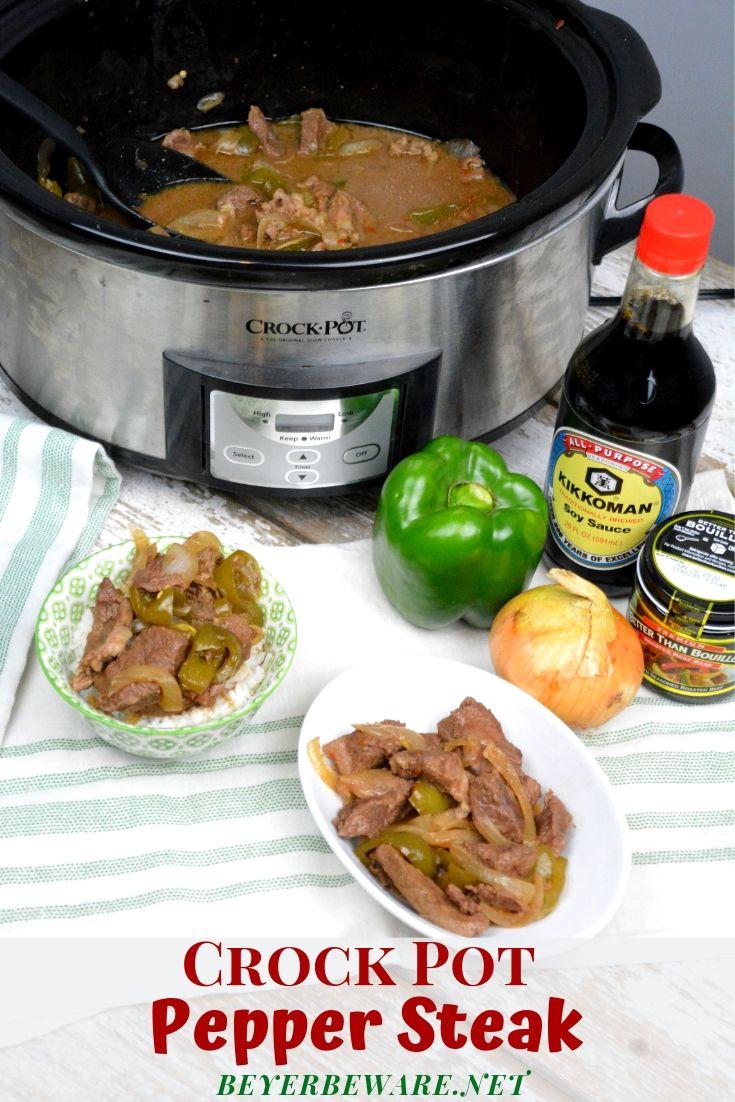 Crock Pot Pepper Steak - Beyer Beware