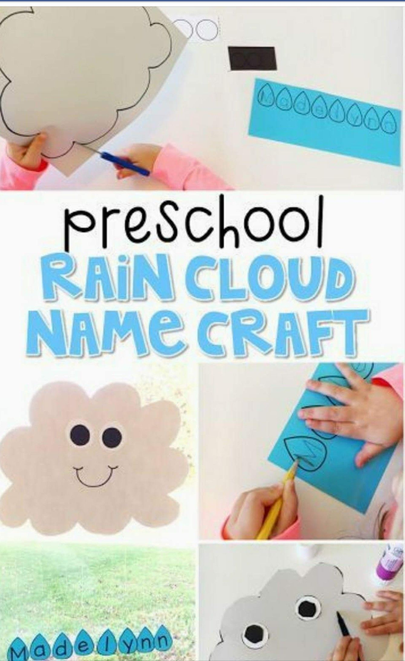 Rain Cloud Name Craft With Images