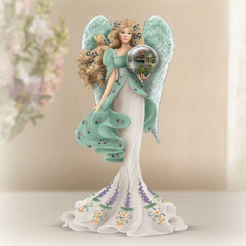 Garden of Prayer Guardian of the Garden Angel Figurine Thomas Kinkade