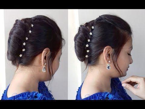 Quick N Easy French Bun French Roll French Twist Tutorial In Hindi Alwaysprettyuseful By Pc Youtube French Twist Hair French Roll Hairstyle Hair Styles