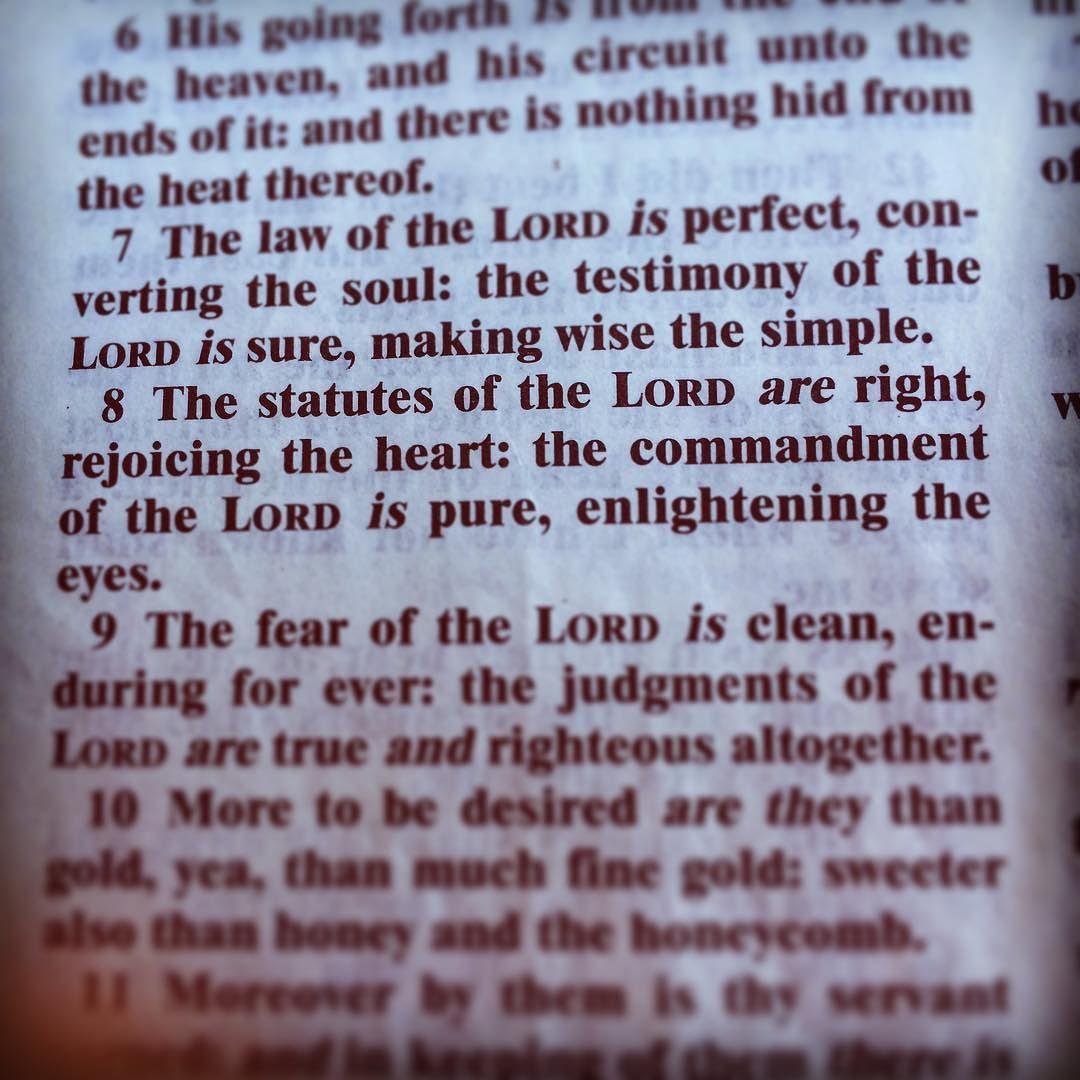 The Wordofgod Psalm 19 7 8 Holybible Kjv Sunday 11 6 16 Word Of God Holy Bible Nkjv