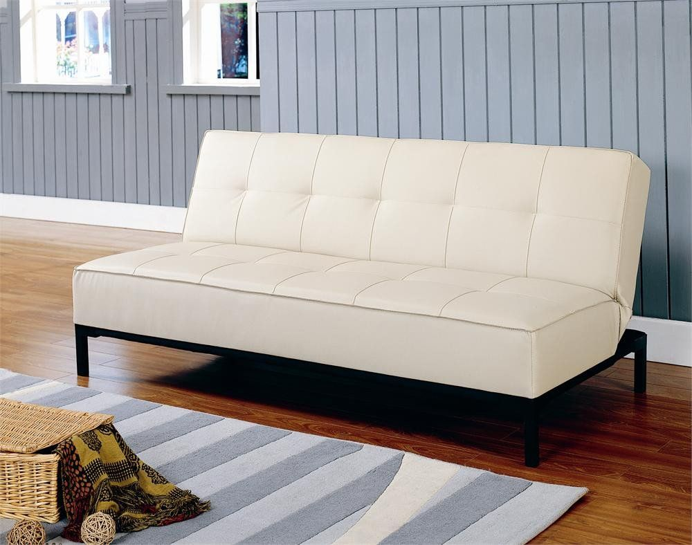 colville convertible sofa   cream   futons at hayneedle a chic way to dress up your living room family room extra      rh   pinterest