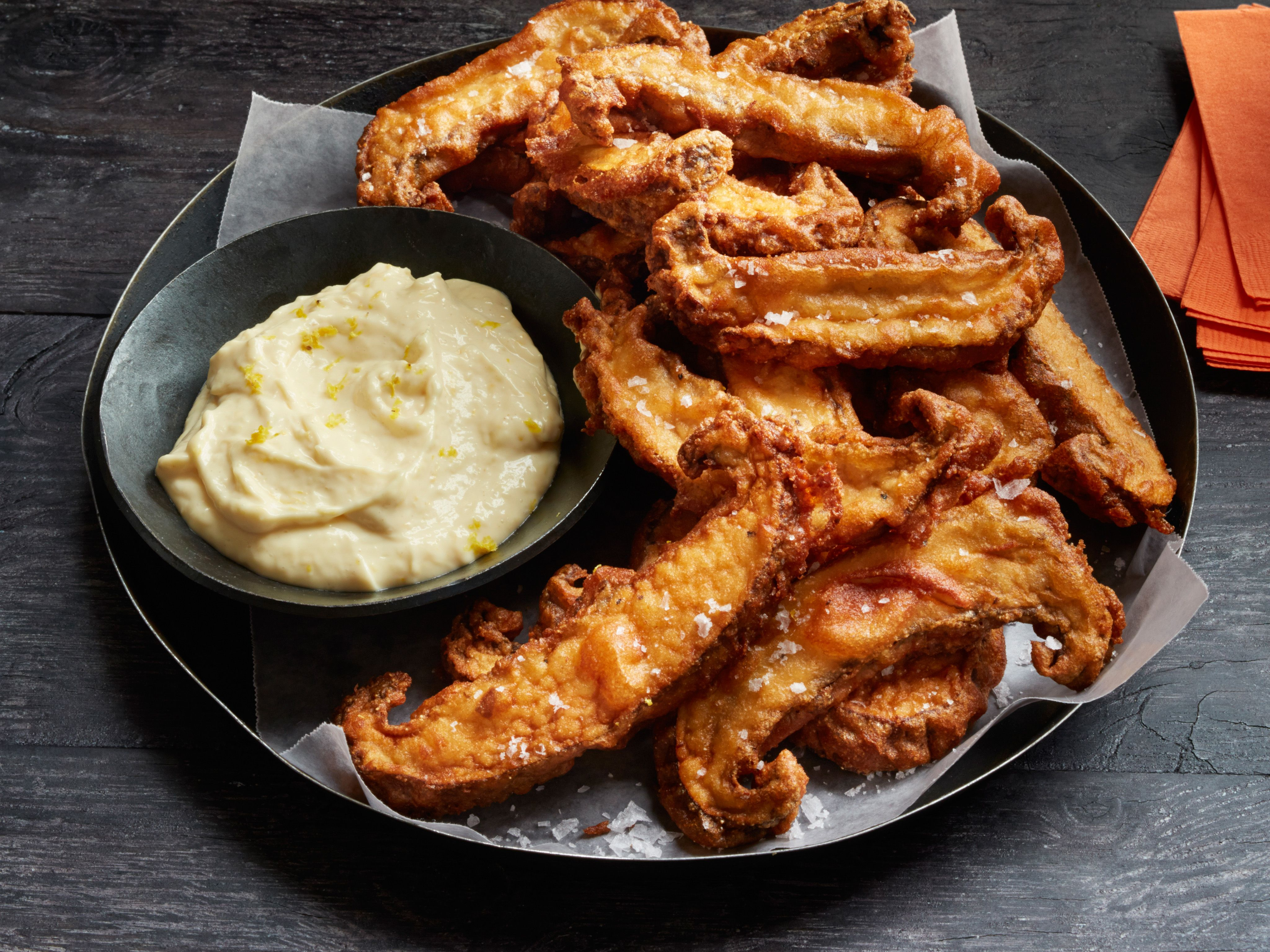 Beer battered mushrooms with garlic aioli recipe garlic aioli beer battered mushrooms with garlic aioli forumfinder Image collections