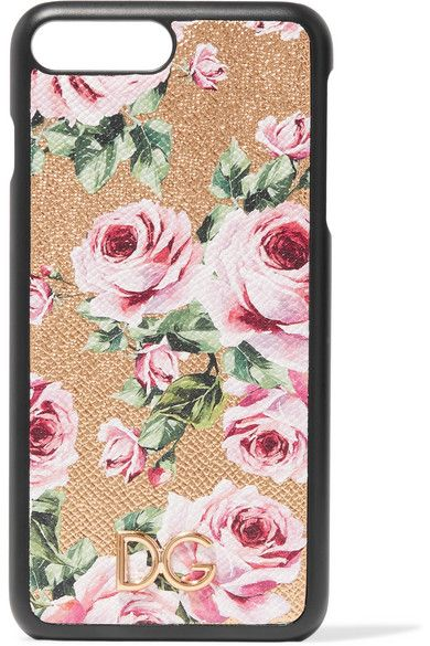Dolce & Gabbana Embelli Floral-print-cuir Texturé Iphone 7 Et 8 Plus Le Cas - Blanc Meilleur Magasin Pas Cher Pour Obtenir Meilleur Prix Prix Pas Cher Sortie Obtenir Authentique Y2Rjpp8R1L