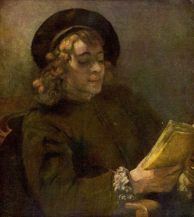 """""""Retrato de Titus"""".  (1657/1658).       (by Rembrandt Harmenszoon van Rijn)."""