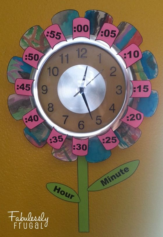 diy flower clock telling time clocks and craft