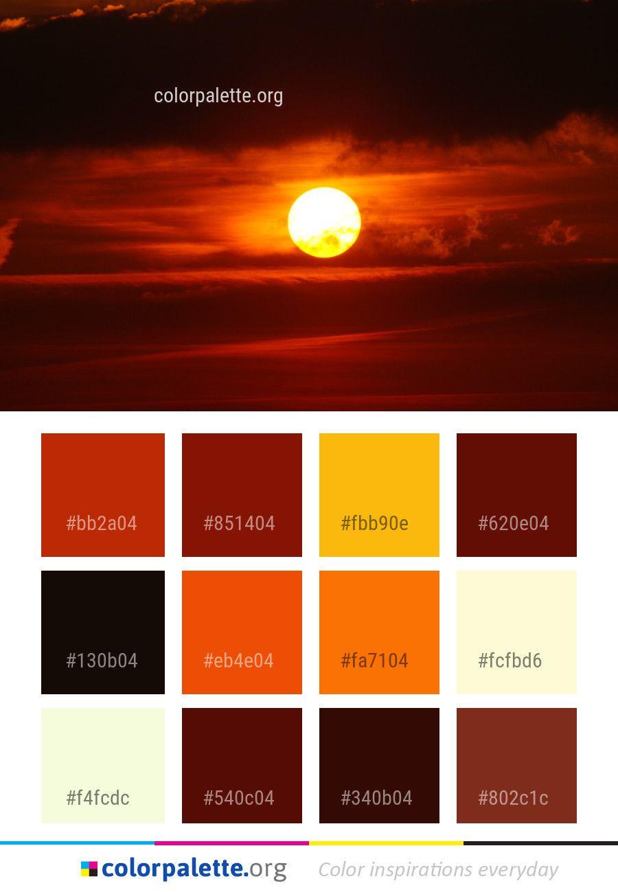 afterglow red sky at morning color palette color palettes rh pinterest com
