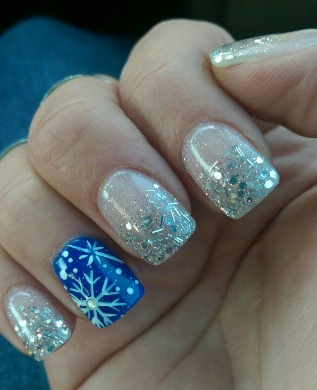 My Christmas Snowflake Nexgen Nails!! | Love Nail Polish | Pinterest ...