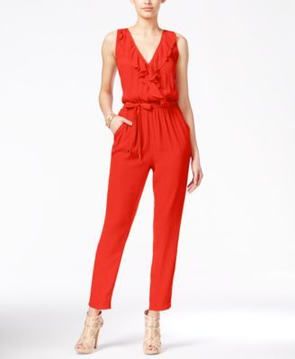 46710058b07c Marilyn Monroe Juniors  Sleeveless Ruffled Jumpsuit