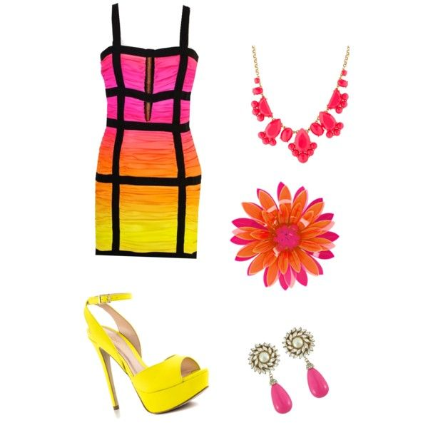 Sunset by lovegl101 on Polyvore featuring polyvore, fashion, style, Balmain, ALDO, Kate Spade and Issa