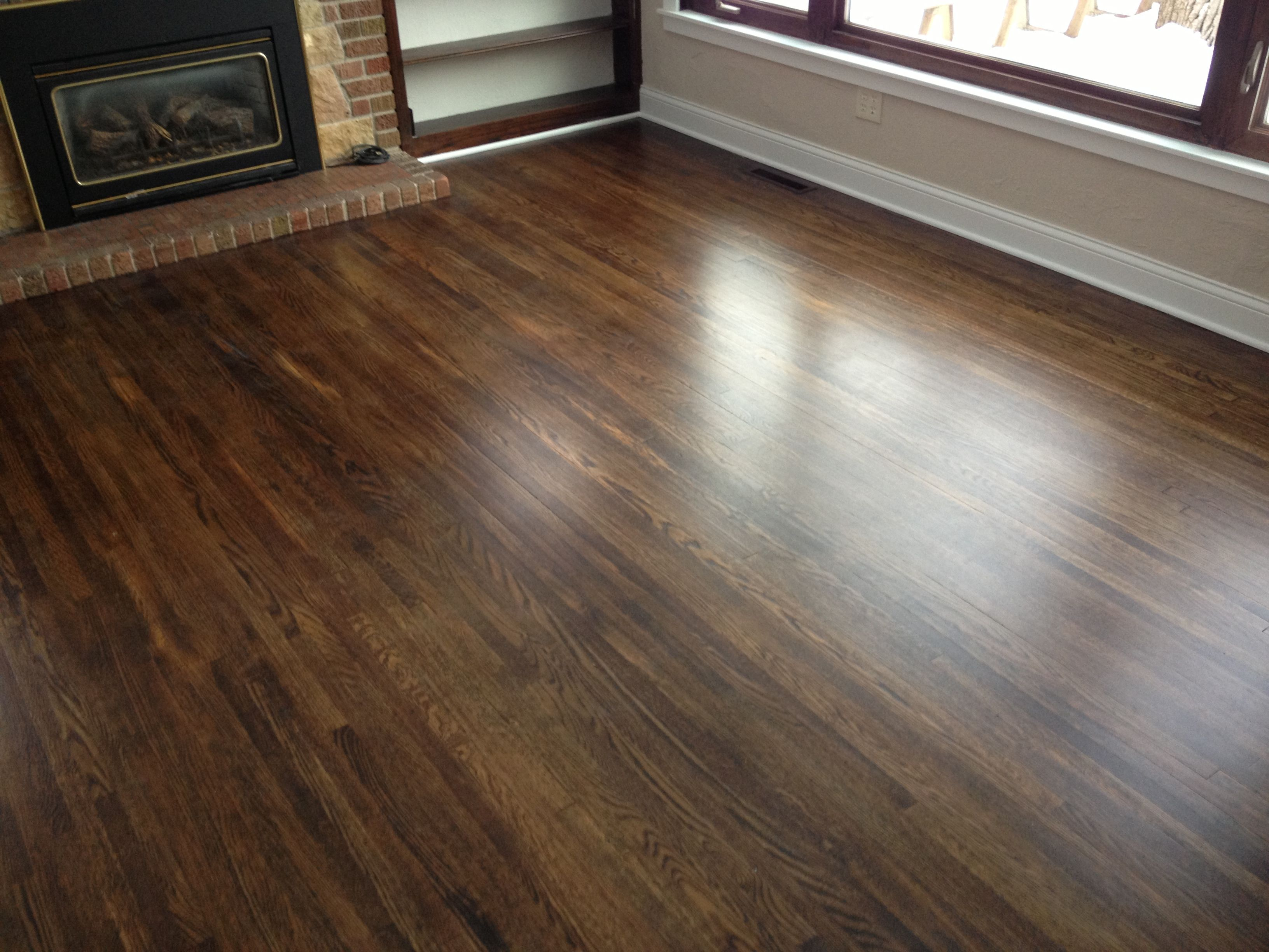 Staining hardwood floors darker minneapolis floor for Color of hardwood floors