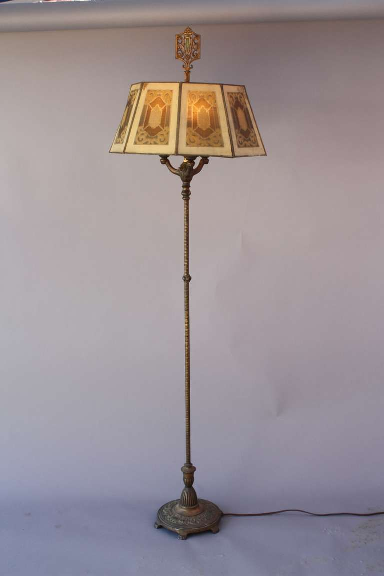 Lovely 1920s Floor Lamp With Octagonal Metal Shade Shade Is Original And Has Some Darker Spots On Six Antique Floor Lamps Vintage Floor Lamp Floor Lamp Design Antique floor lamps for sale