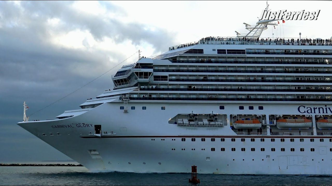 nice Departure of cruise vessel CARNIVAL GLORY