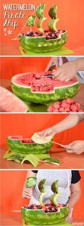 How to Carve a Watermelon Into a Pirate Ship