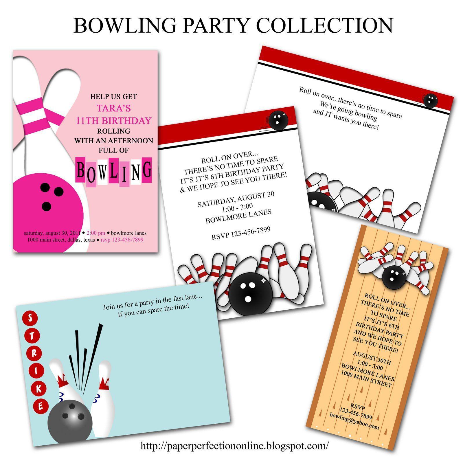 Einladung Zum Bowling Kostenlos | Geburtstag Einladung | Pinterest ...