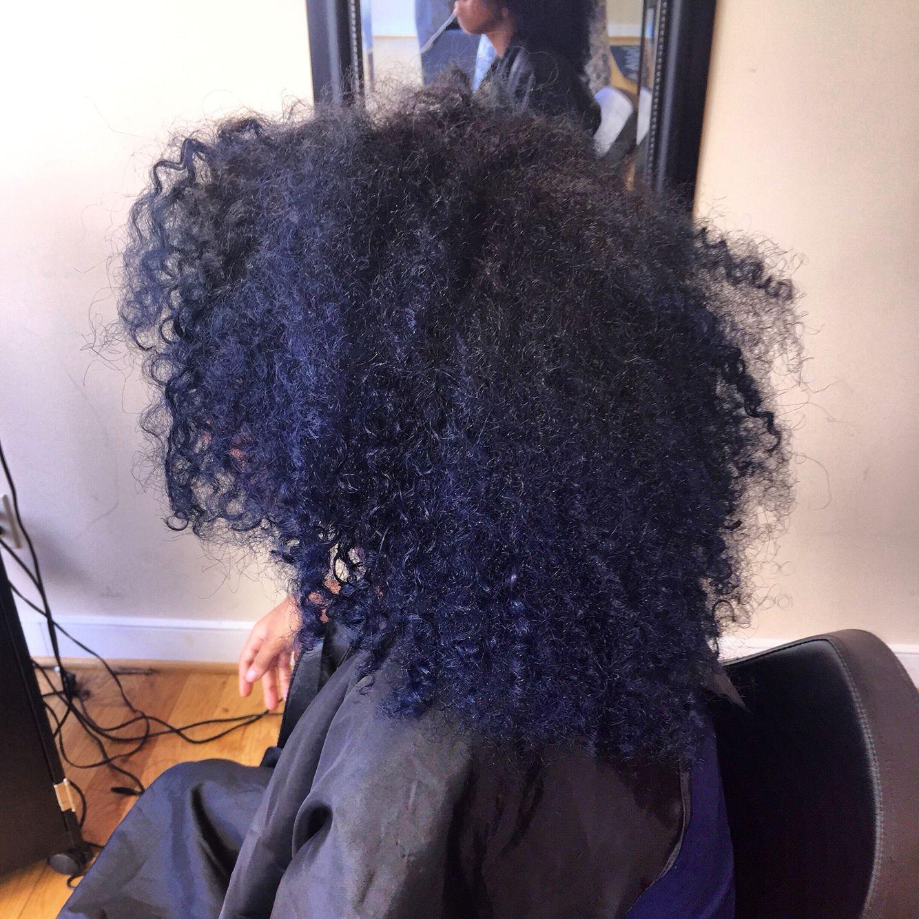 Pinkandblackhairstudio Com Midnight Blue Natural Hair Blue
