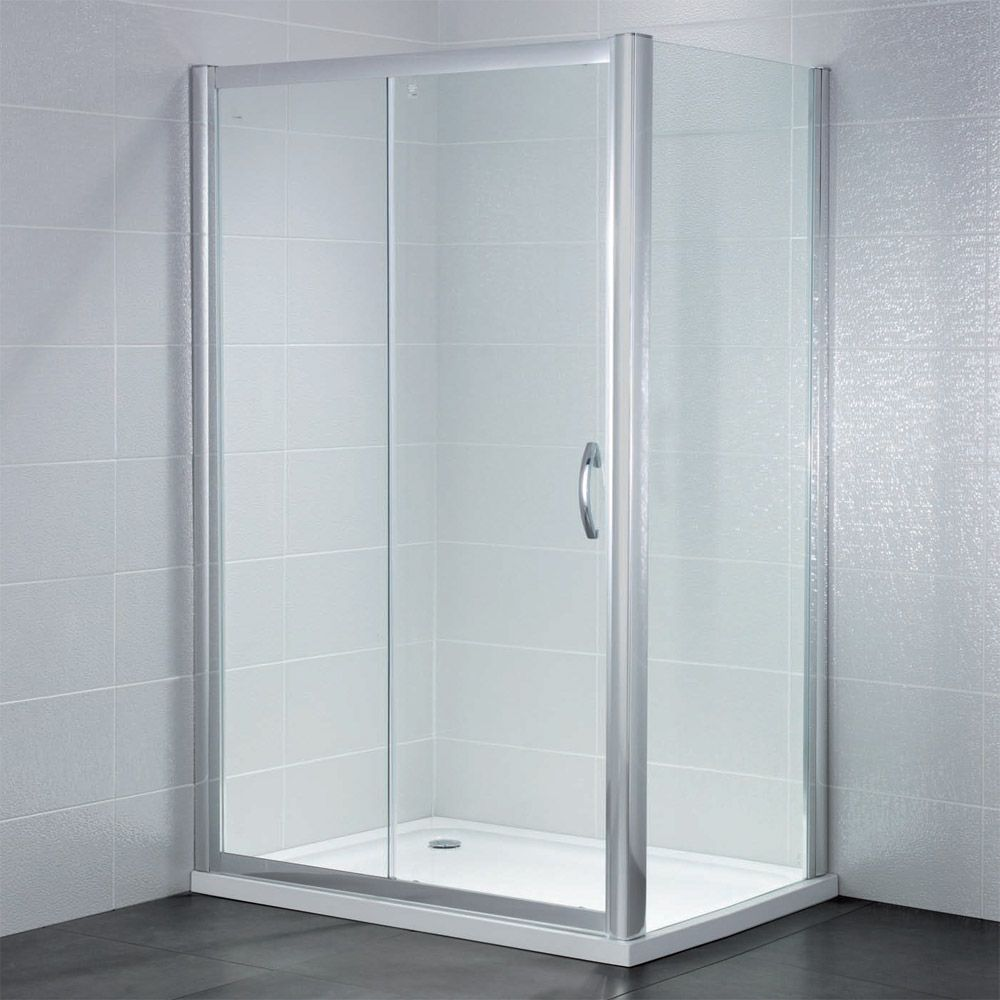 April Identiti2 Sliding Shower Door 1100mm Wide 8mm Glass Shower Doors Frameless Sliding Shower Doors Framed Shower Door