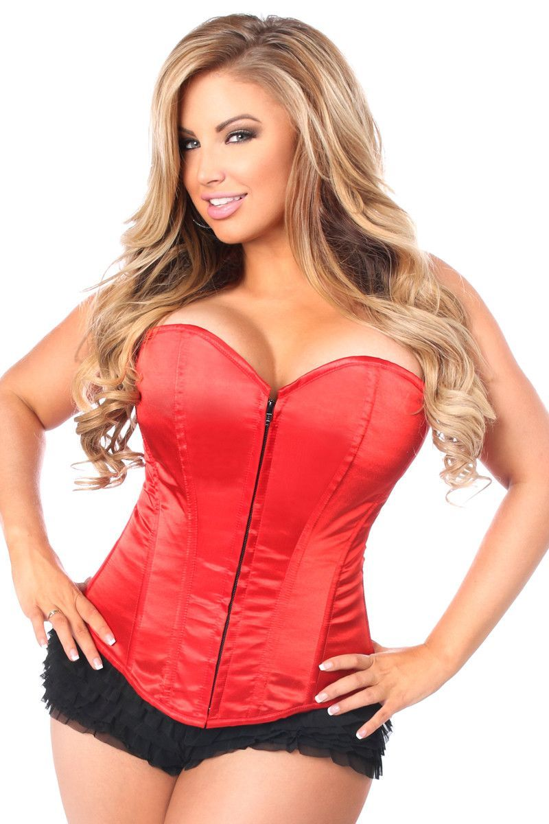 a80b99eadf Lavish Red Sweetheart Front Zipper Corset - Plus