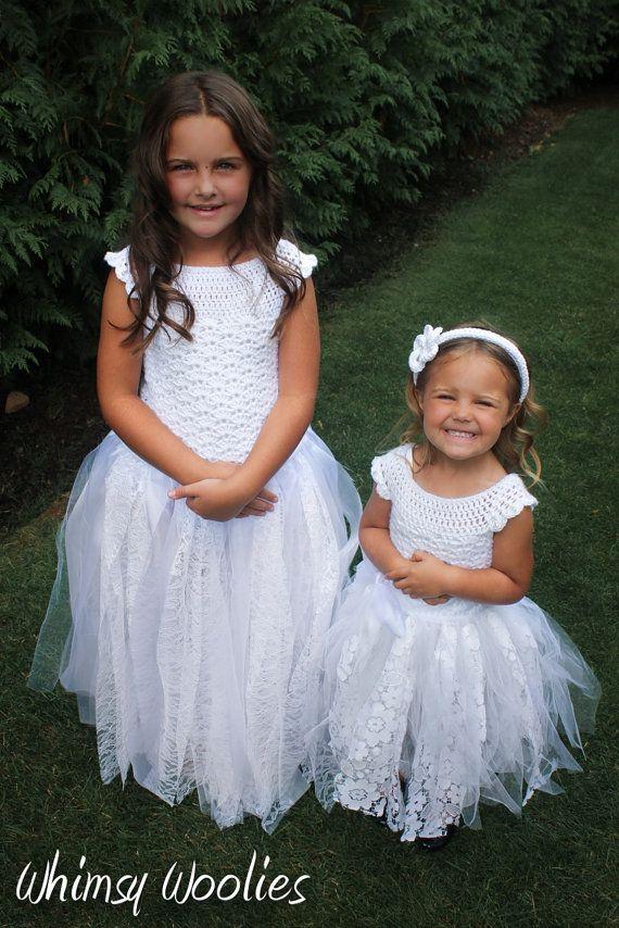 Crochet Dress Pattern Flower Girl Dress First Communion Dress