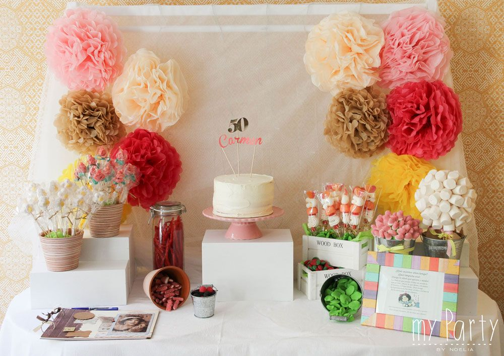 Candy bar 50 a os 50 cumple pinterest 50 a os - Decoracion fiesta sorpresa ...