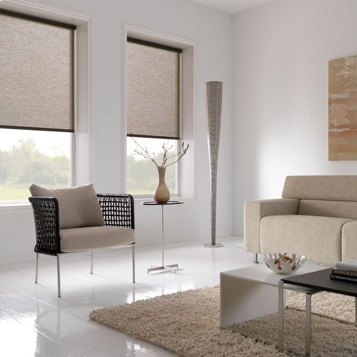Roller blinds natural - Clean \ Contemporary Home Suburban - schlafzimmer bei roller
