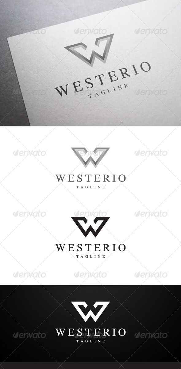 Package design Westerio W Letter Logo
