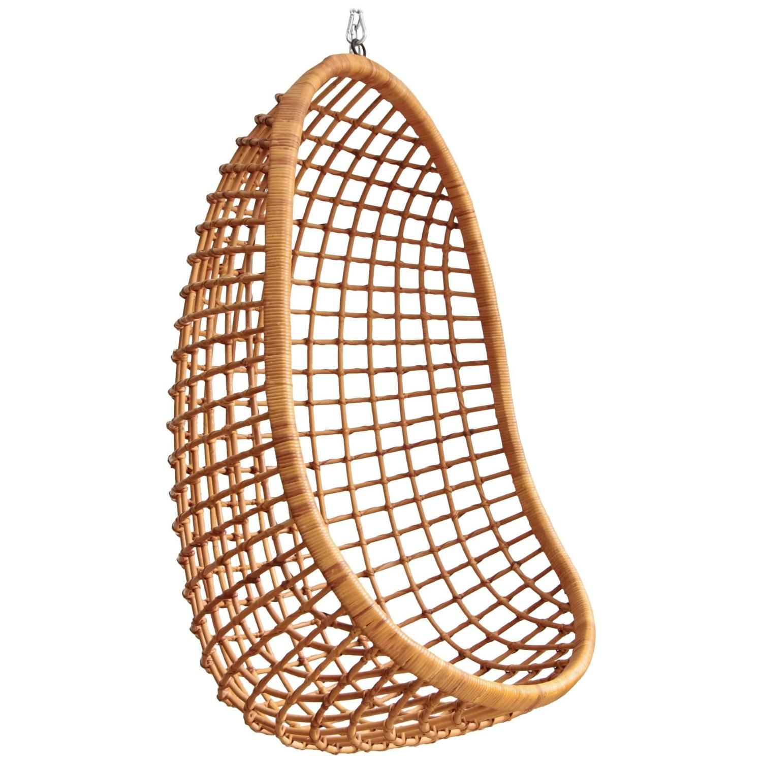 rohe noordwolde hanging rattan egg chair | egg chair, rattan and