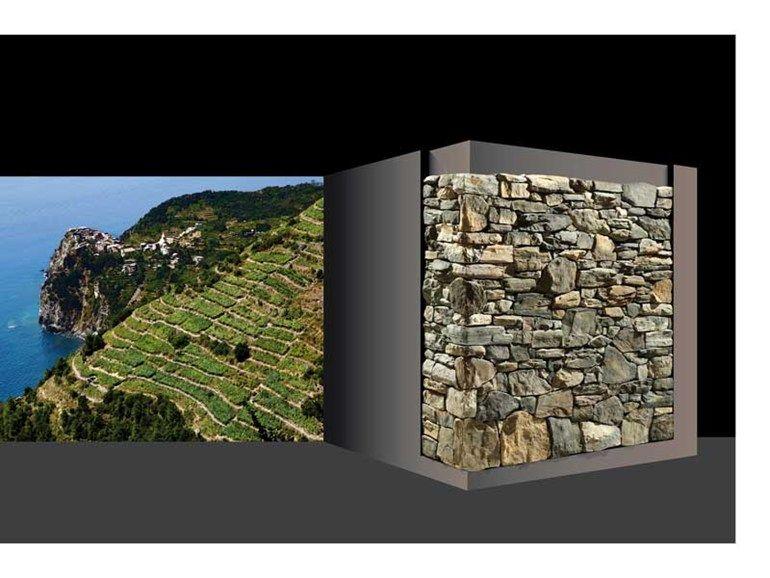 Rivestimento in pietra ricostruita profilo muratura composta Nuovimuri by GEOPIETRA®
