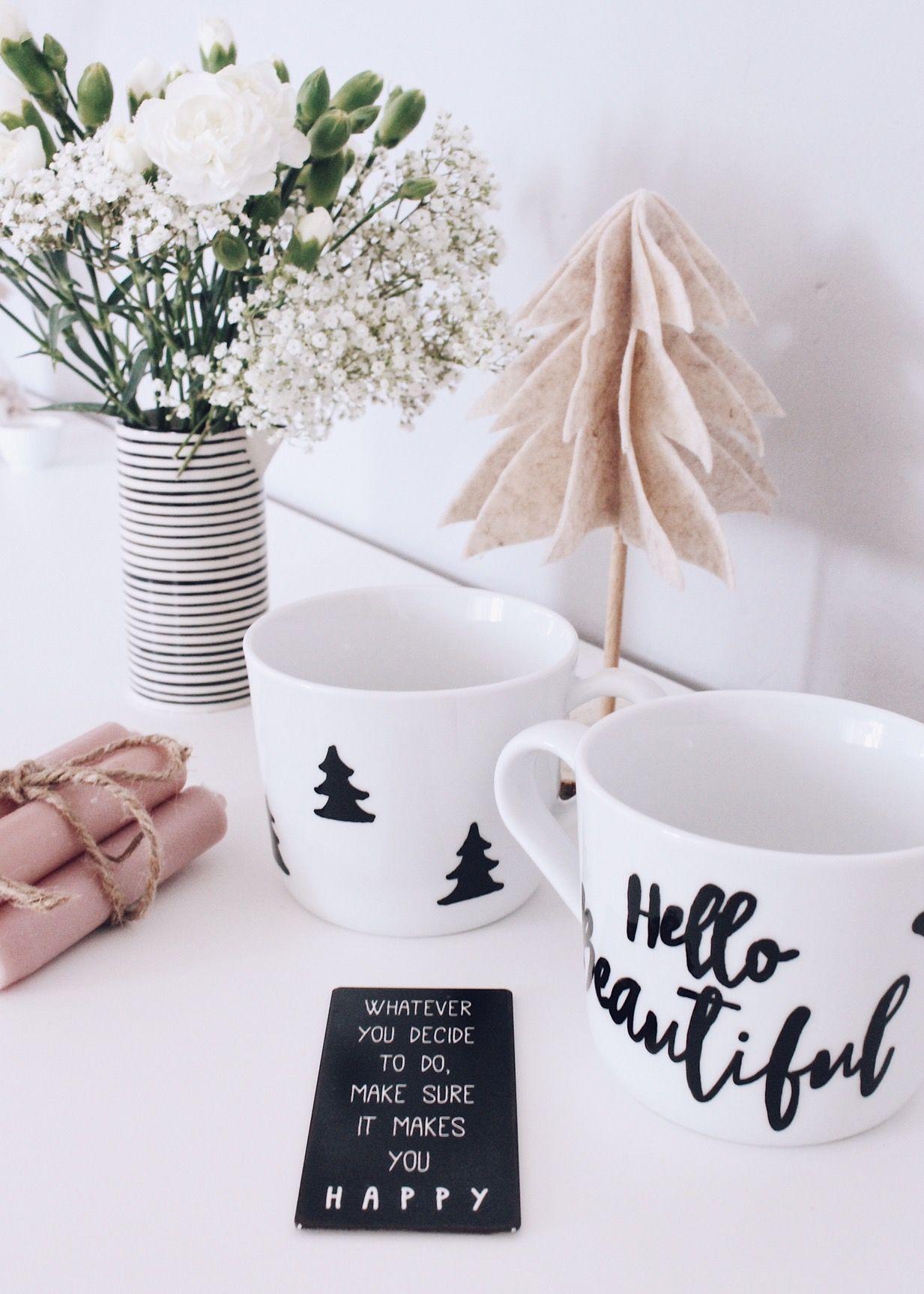 diy einfache weihnachtsgeschenke individuelle tassen selber gestalten diy geschenke. Black Bedroom Furniture Sets. Home Design Ideas