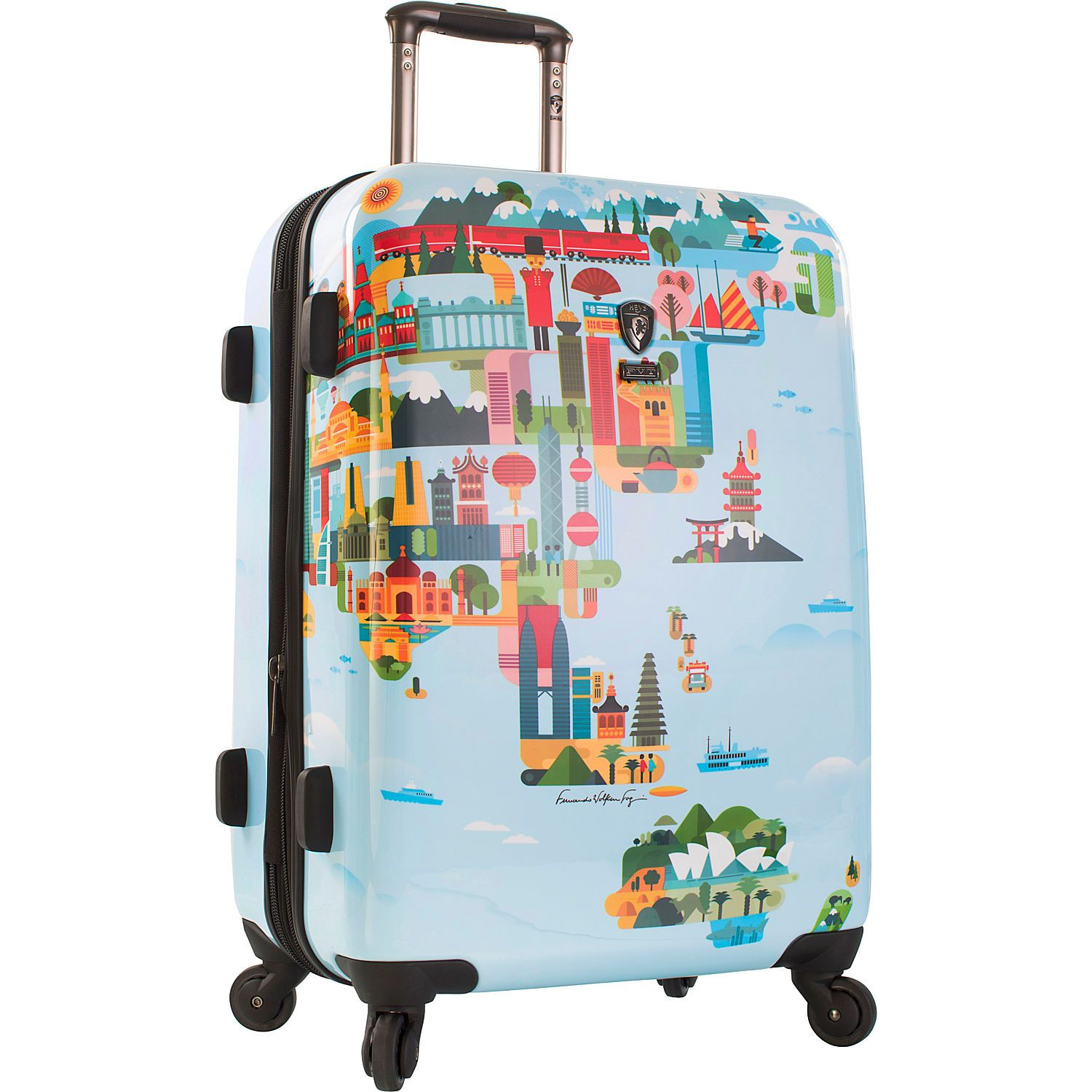 Heys america world map 26 spinner luggage ebags travel 10 bright bags that will stand out on the luggage carousel gumiabroncs Image collections