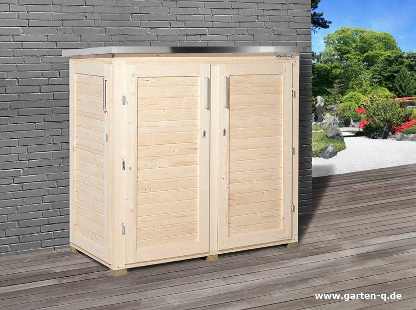 Gut gemocht Gartengeräteschrank | moderner Geräteschrank aus Holz - Garten-Q QK45