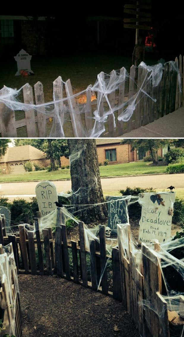 Best 17 Halloween Yard Decorations Made With