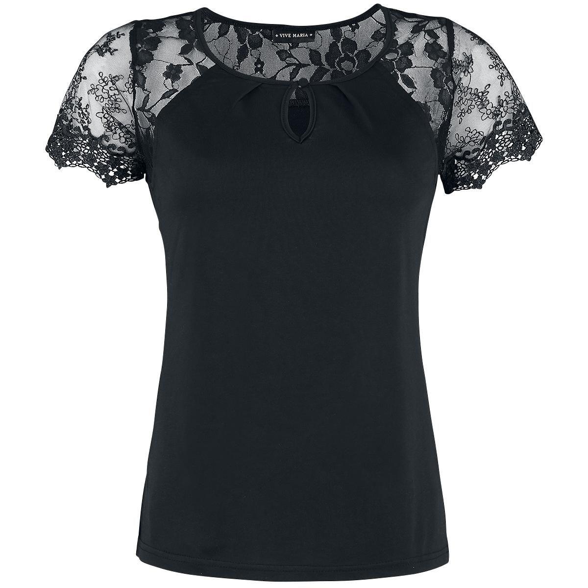 Black London Shirt - T-shirt van Vive Maria