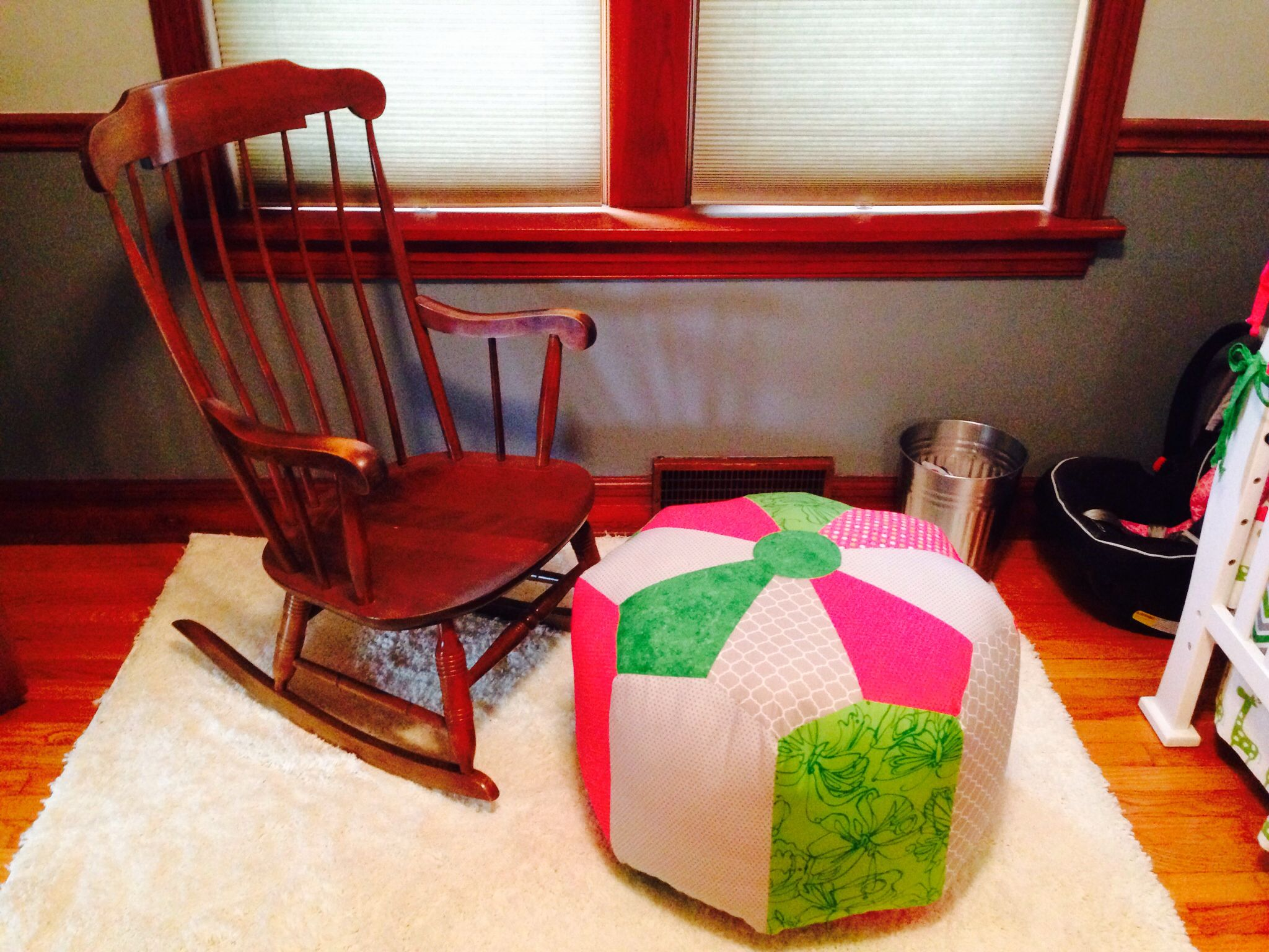 Rocking chair and amazing pouf Rocking chair
