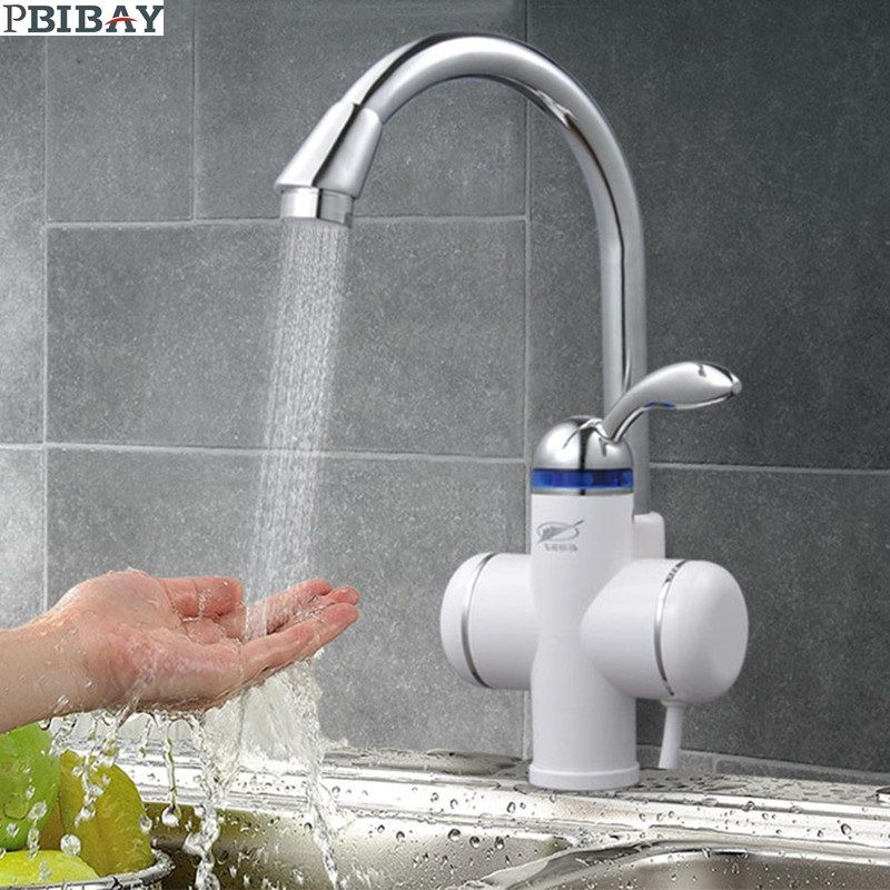 W818 3 3000w Instant Hot Water Faucet Electric Instant Water Heater Tap Kitchen Electric Hot Water Tap Heating F Instant Water Heater Water Faucet Water Heater