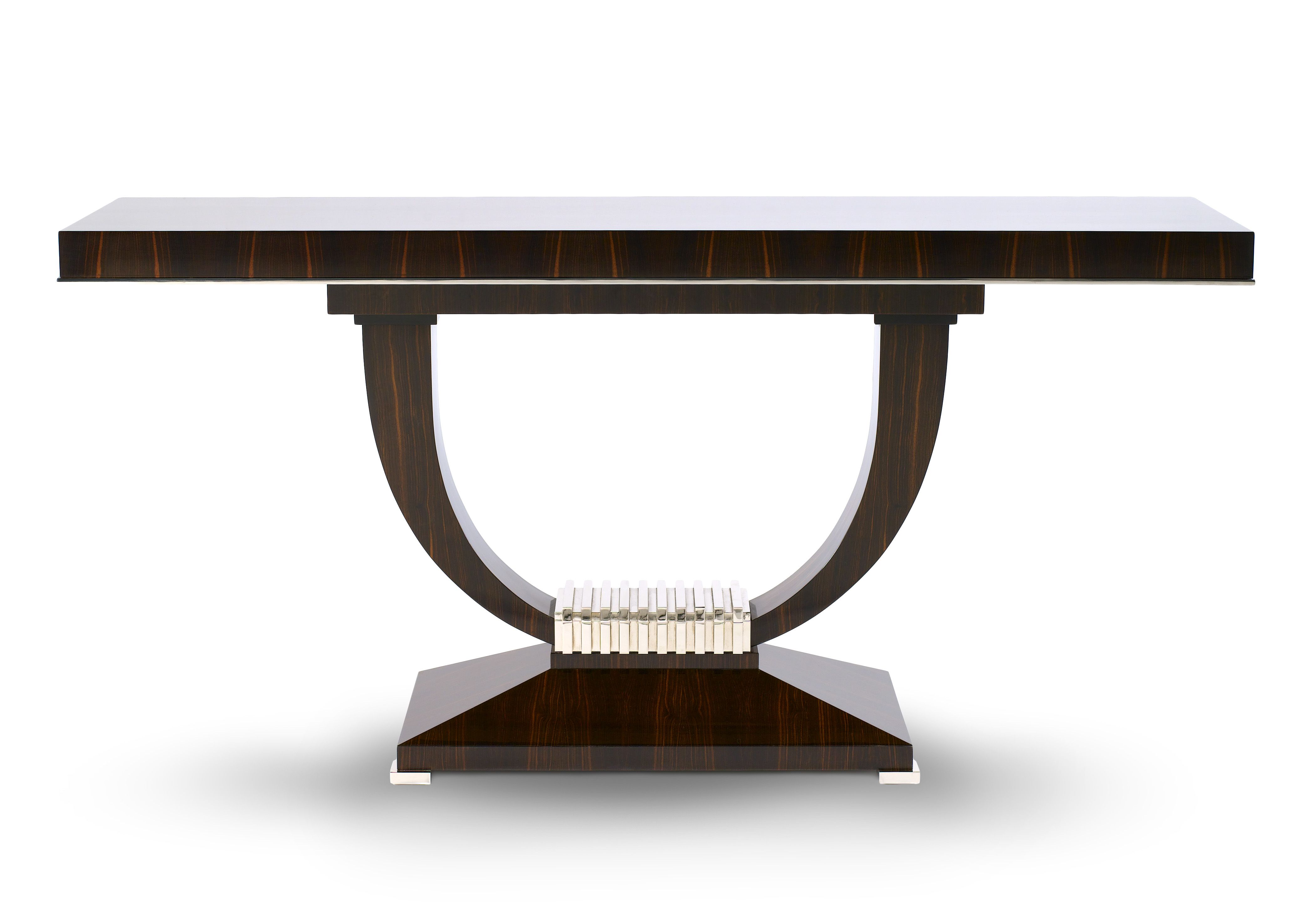 Davidson london the portman console in macassar ebony with davidson london the portman console in macassar ebony with polished nickel detail geotapseo Image collections