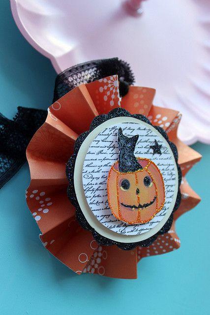 Kitty Rosette Ornament by chelstastic, via Flickr