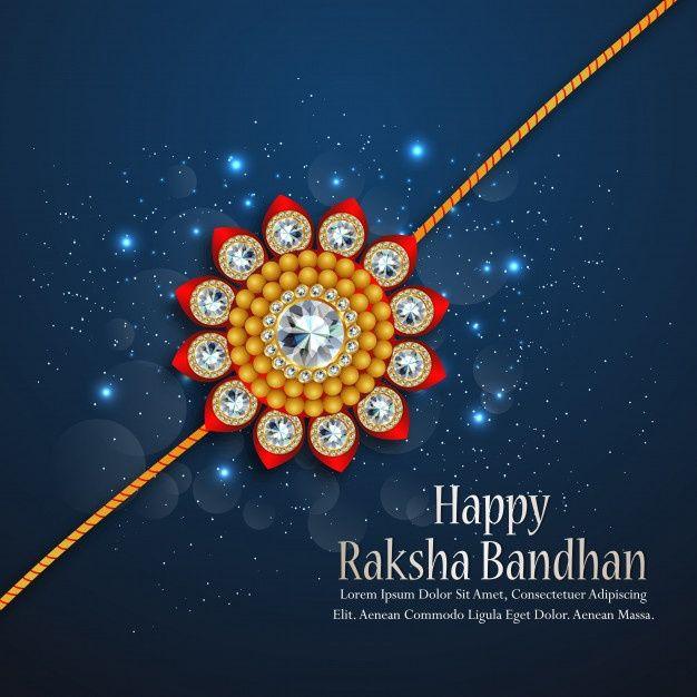 raksha bandhan greeting card design for happy raksha