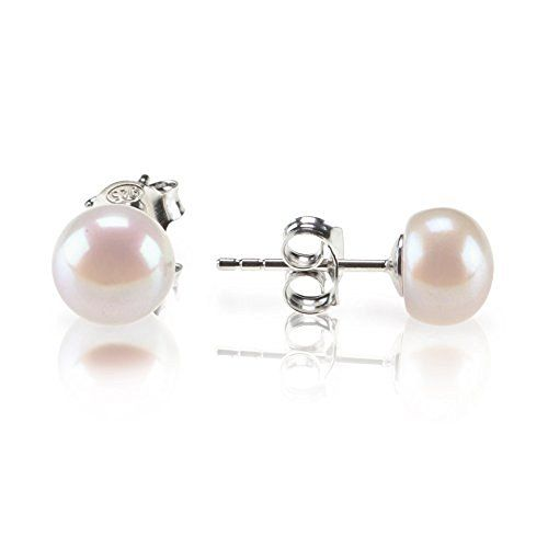 Quality round pearl earrings Jewellery 8mm Stud