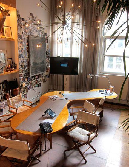 marc designed this amoeba shaped dining slash work table love rh pinterest com