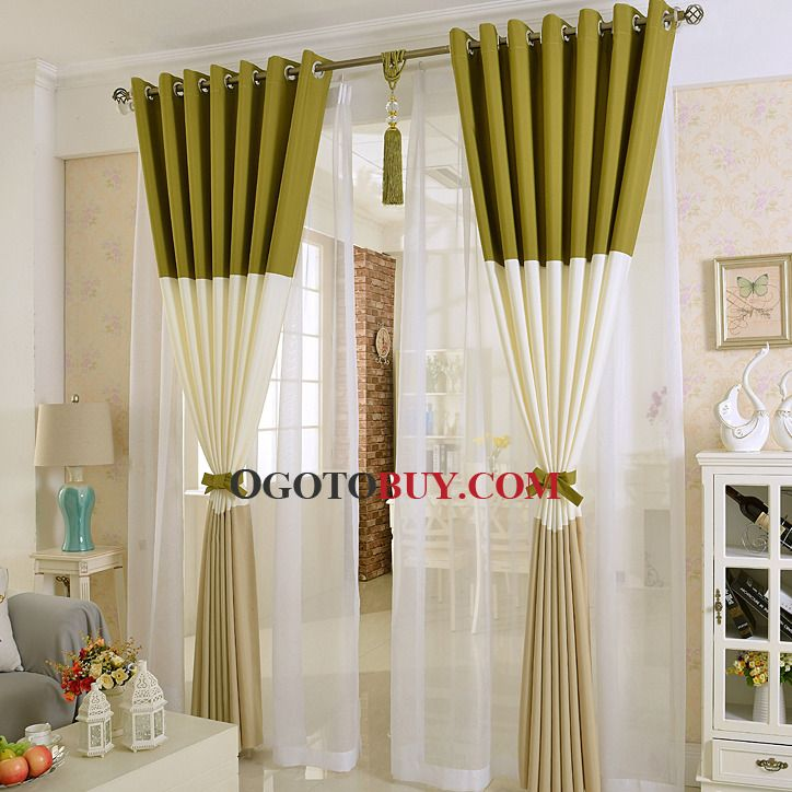 Olive Green Modern Style Thermal And Blackout Curtain Buy Print Curtains Cheap Sale