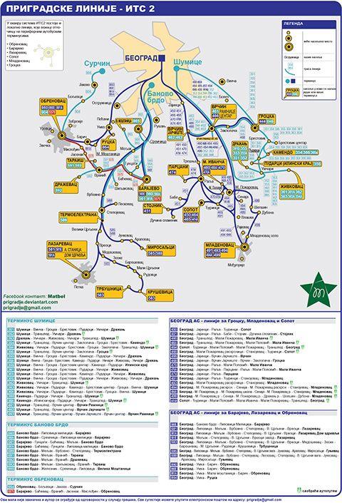 Mapa Prigradske Linije Beograd Its2 Picture Story